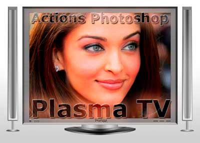 Экшен Photoshop -Plasma TV-