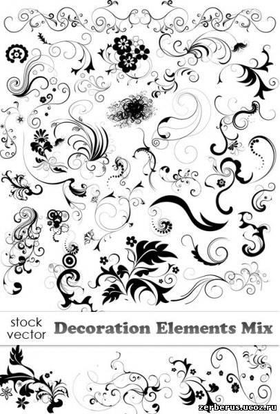 Векторные завитушки / Decoration Elements Mix