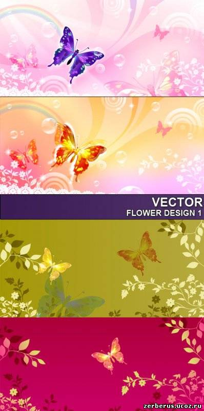 Цветочные фоны для дизайна_6