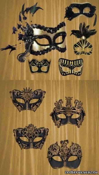 Вырезы карнавальных масок в PSD