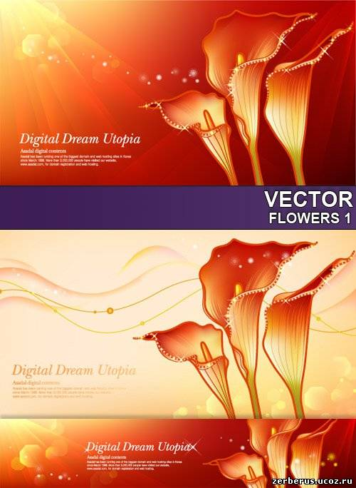 Цветочные фоны для дизайна_7