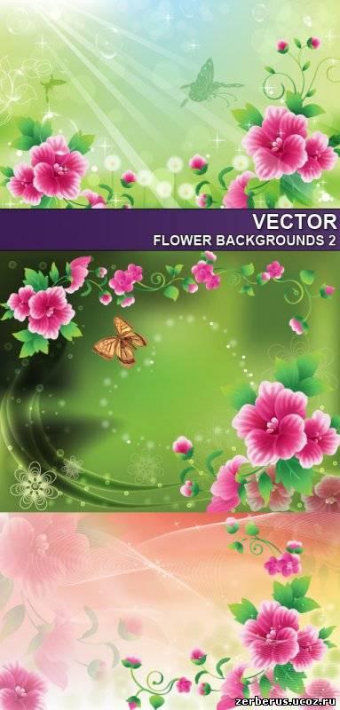 Цветочные фоны для дизайна_4