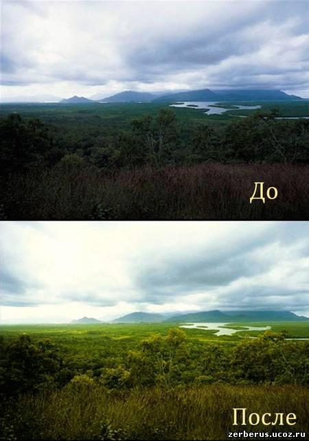 Фотошоп и натурные съемки
