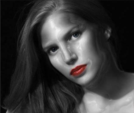 Эффект металлического лица в фотошоп.